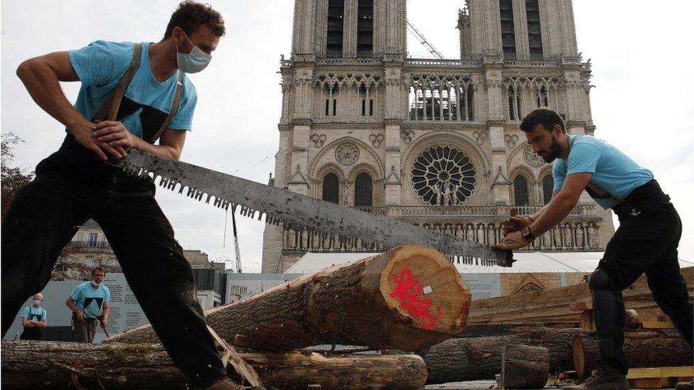 أعمال البناء في الكاتدرائية