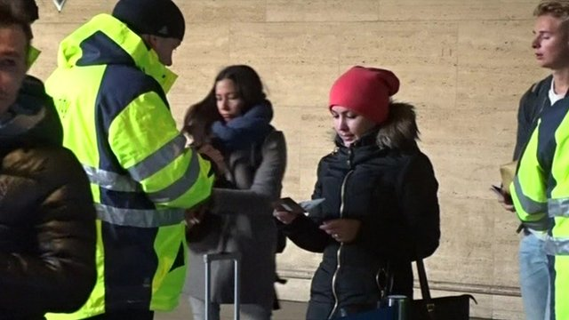 Danish Travellers at the Swedish Border in Malmo
