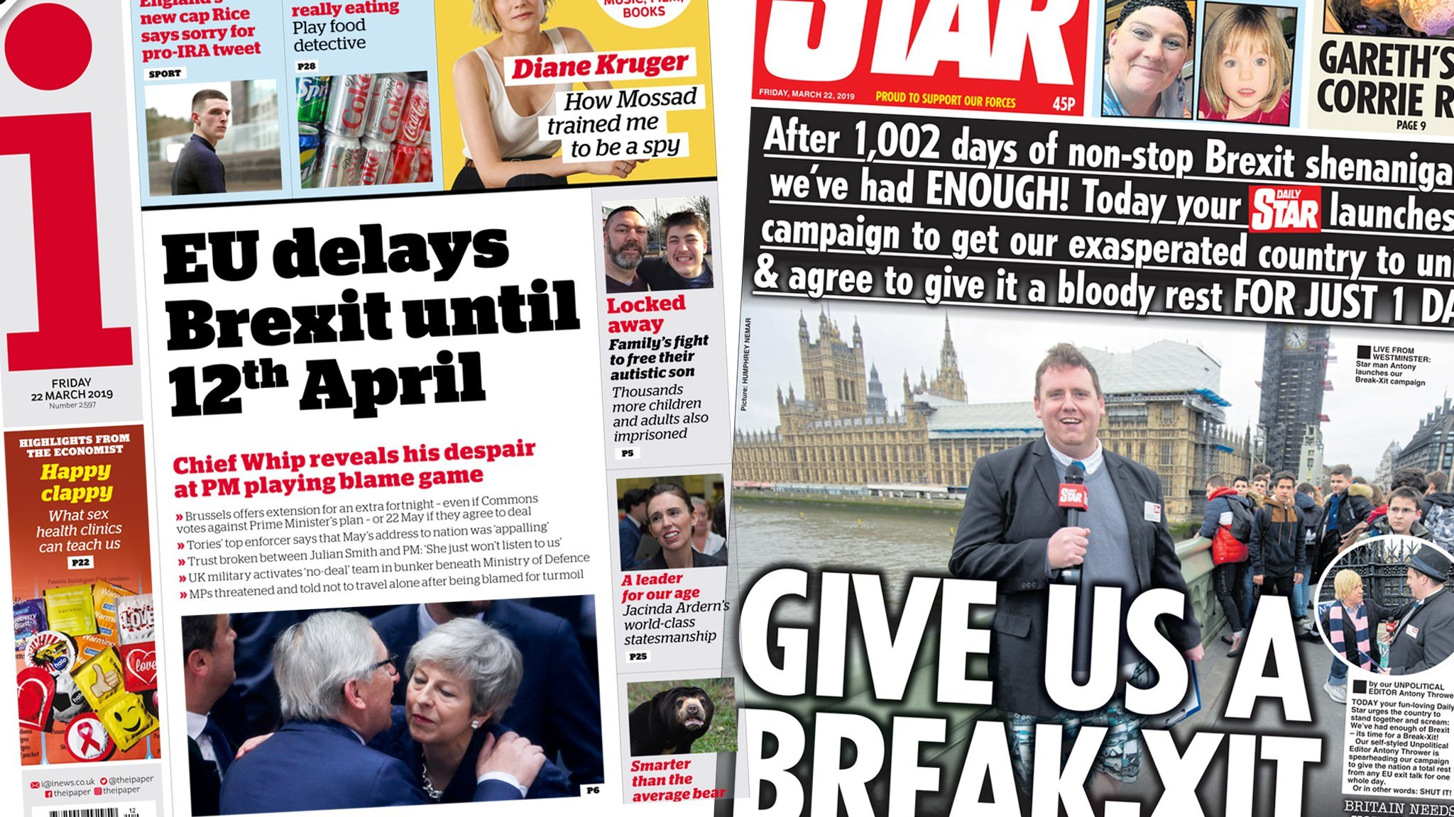 Newspaper headlines: Brexit 'emergency' and 'Break-xit' campaign