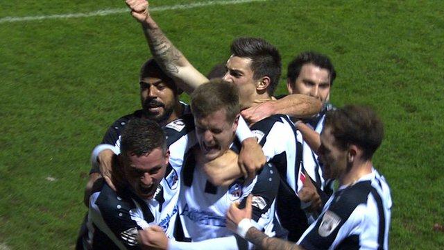 Maidenhead United score against Port Vale in FA Cup