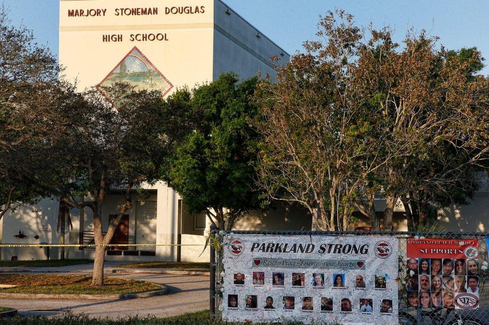 A general view of Marjory Stoneman Douglas High School