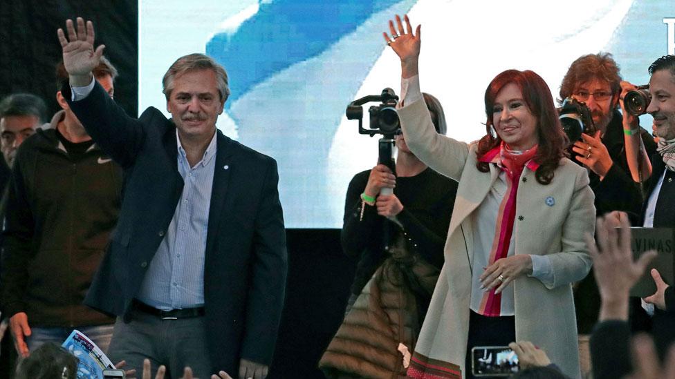 Alberto Fernández junto con Cristina Fernández de Kirchner