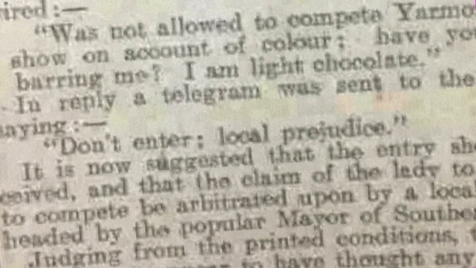 Excerpt from the Sheffield Daily Telegraph