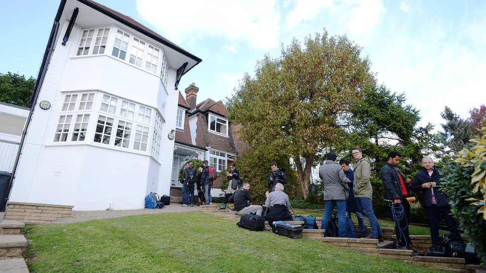 TV crews and reporters flocked to Ishiguro's London home
