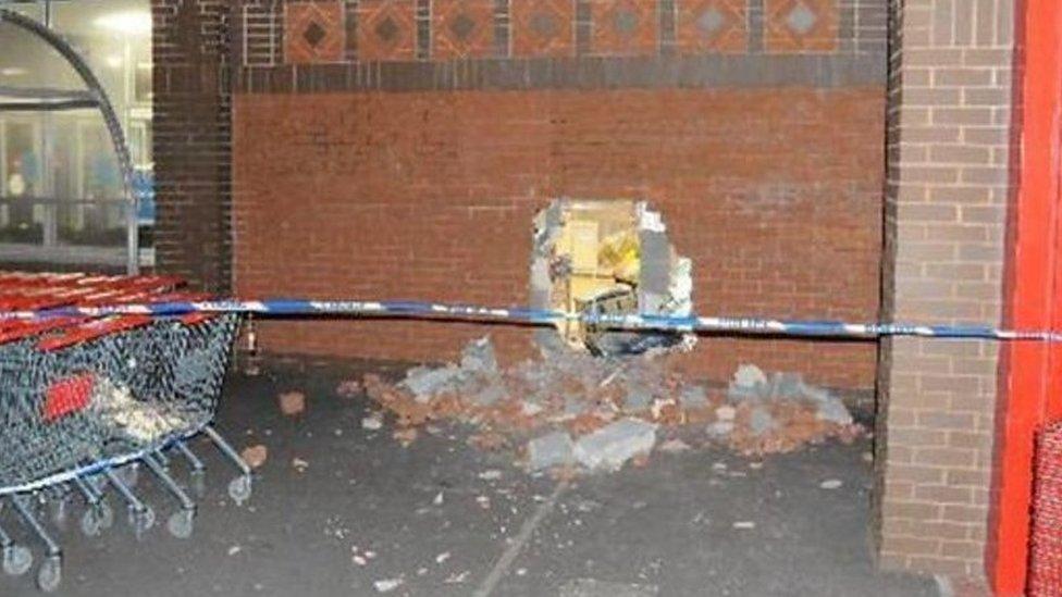 Whitehaven Aldi raiders pull cash machine through wall