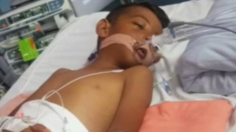 Luay Mohammad, 7, still in hospital after Egypt holiday