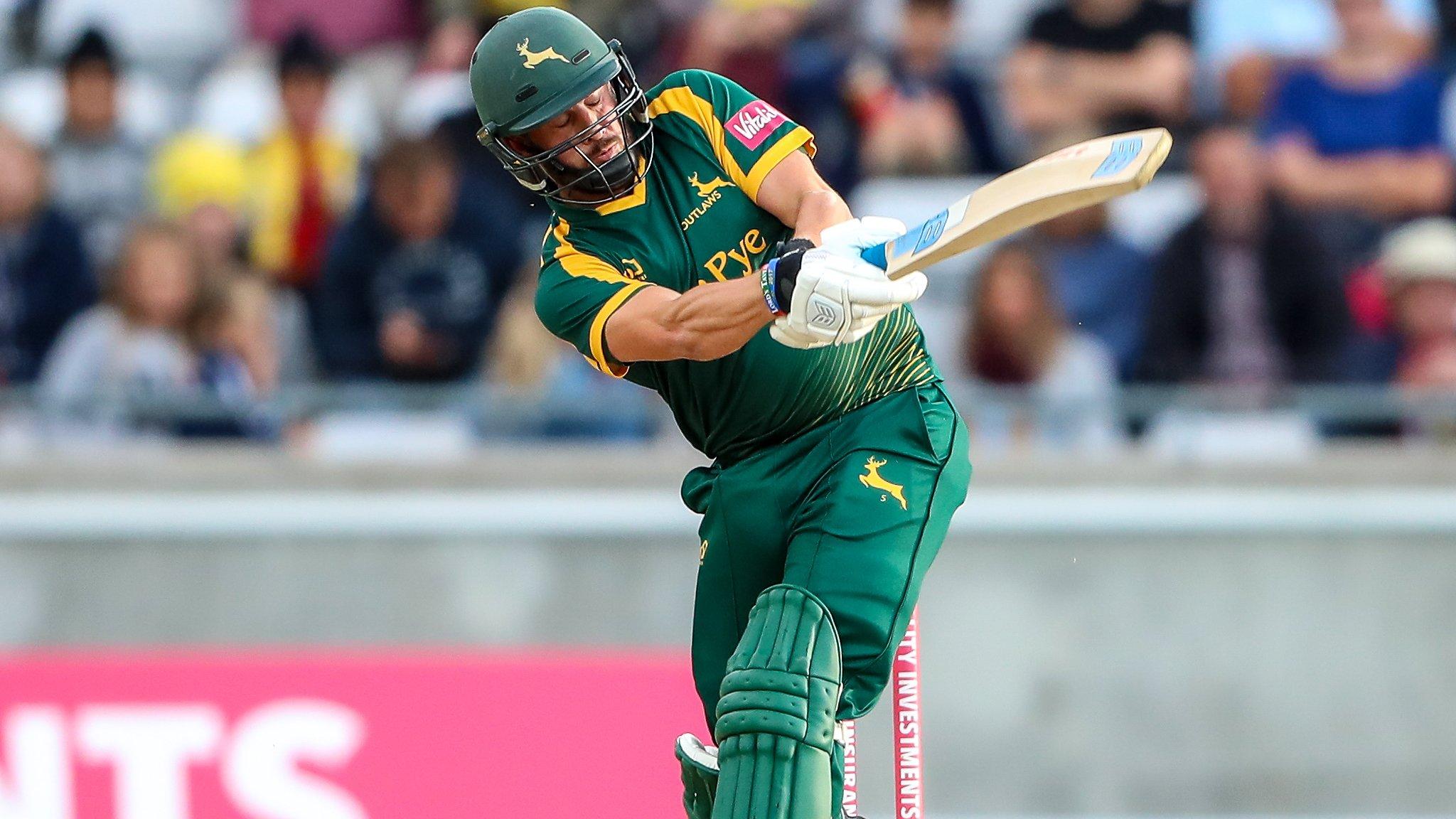 One-Day Cup: Nottinghamshire batsmen make light work of Derbyshire