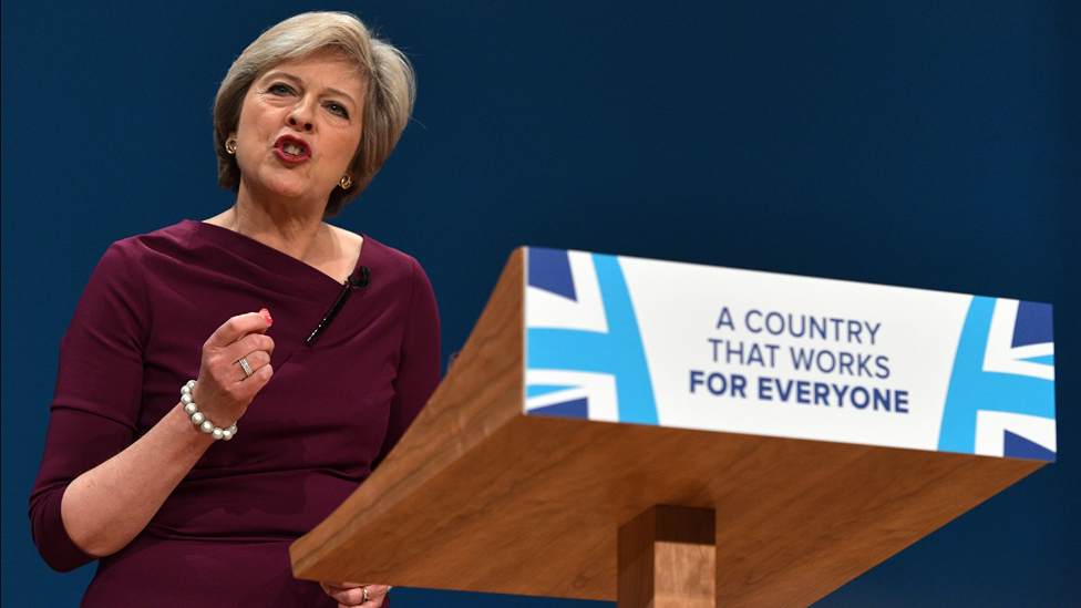 Theresa May's speech to Conservative party conference, October 2016