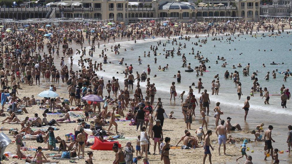 San Sebastian beach, 2 Aug 17