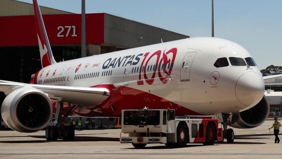 Avión de Qantas.