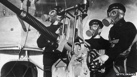 Servicemen on a Swedish warship in 1939