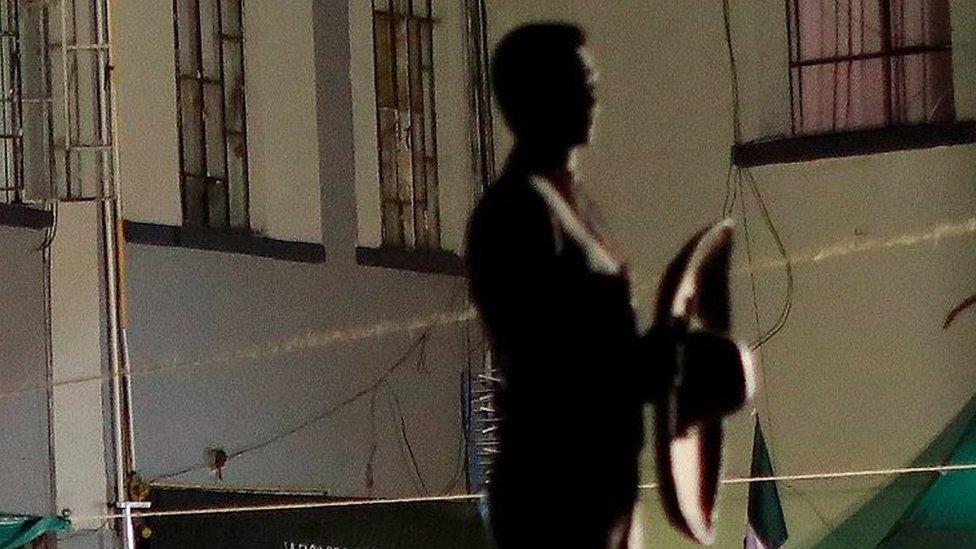 Estatua de un mariachi en Plaza Garibaldi.