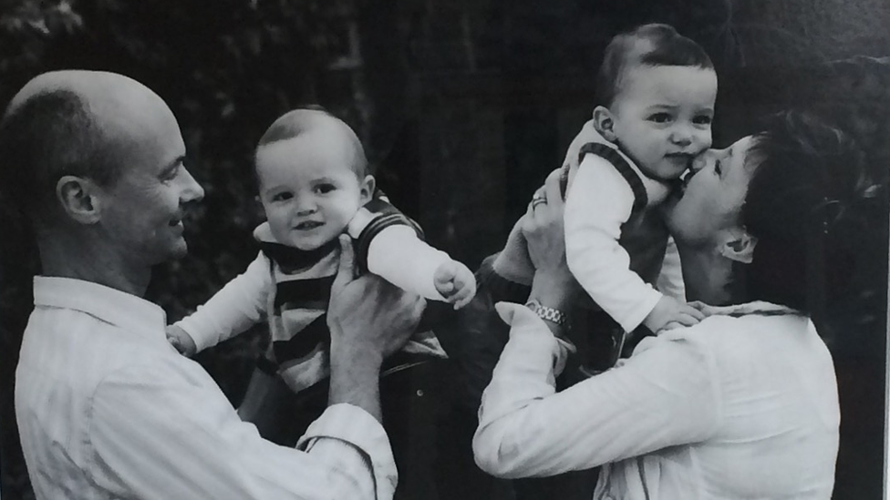 Richard and Adele Hanna with children