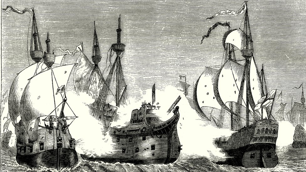 Engraving of the Spanish Armada