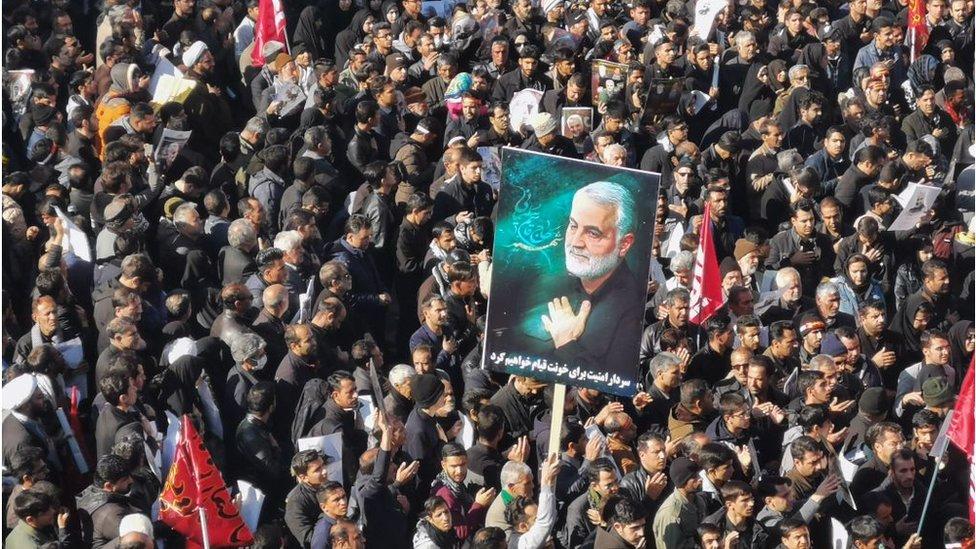 مراسم جنازة شعبية للقائد الإيراني البارز قاسم سليماني