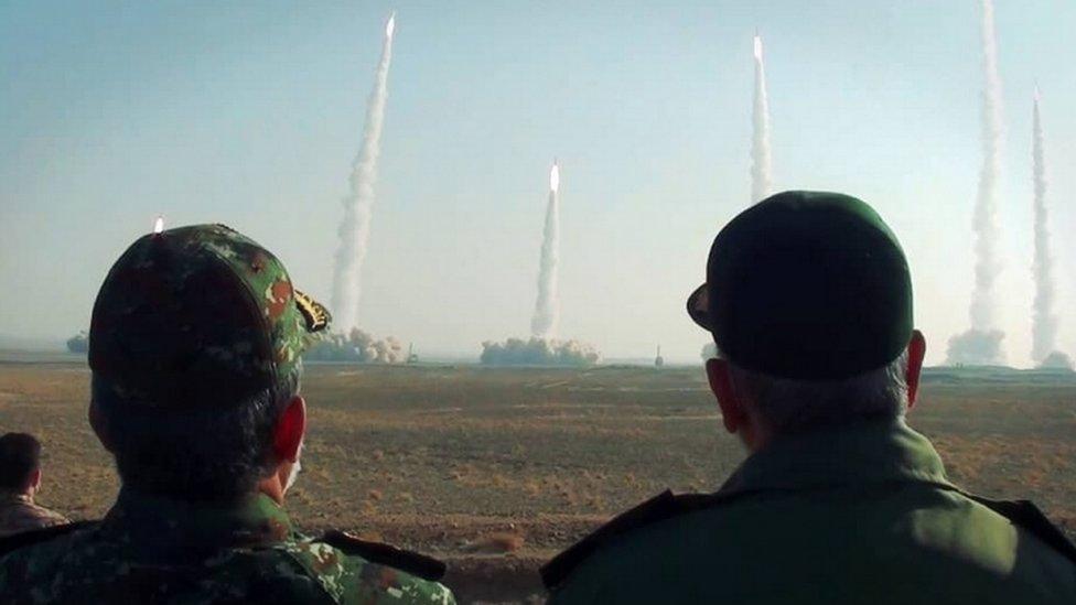 مناورات إيران الصاروخية
