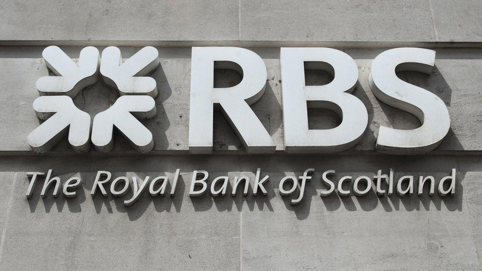 Sign for Royal Bank of Scotland (RBS)