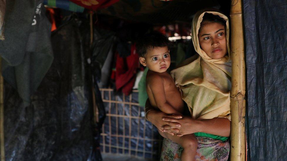 Una mujer rohingya