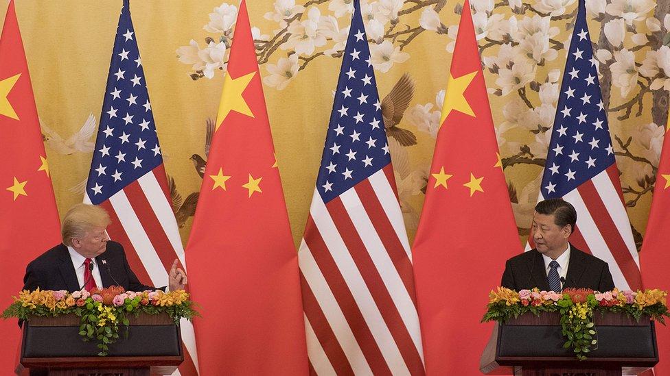 Američki predsednik Donald Tramp i kineski predsednik Si Džinping