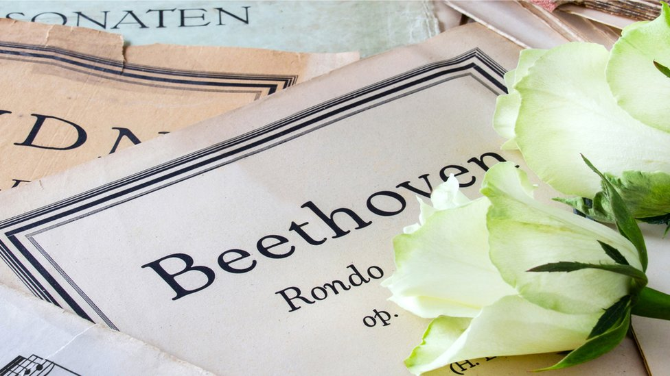 Partitura de Beethoven