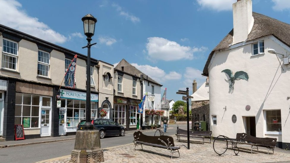 Moretonhampstead, a small town in the Dartmoor National Park