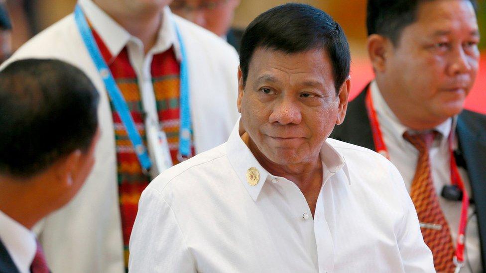 Philippine President Rodrigo Duterte arrives for the Asean summit in Laos on 6 September 2016