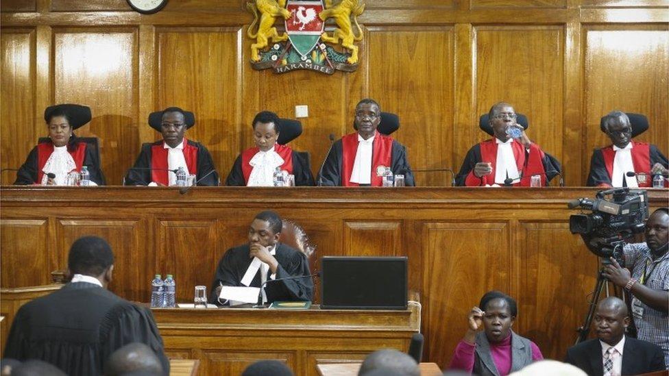 The six Supreme Court judges