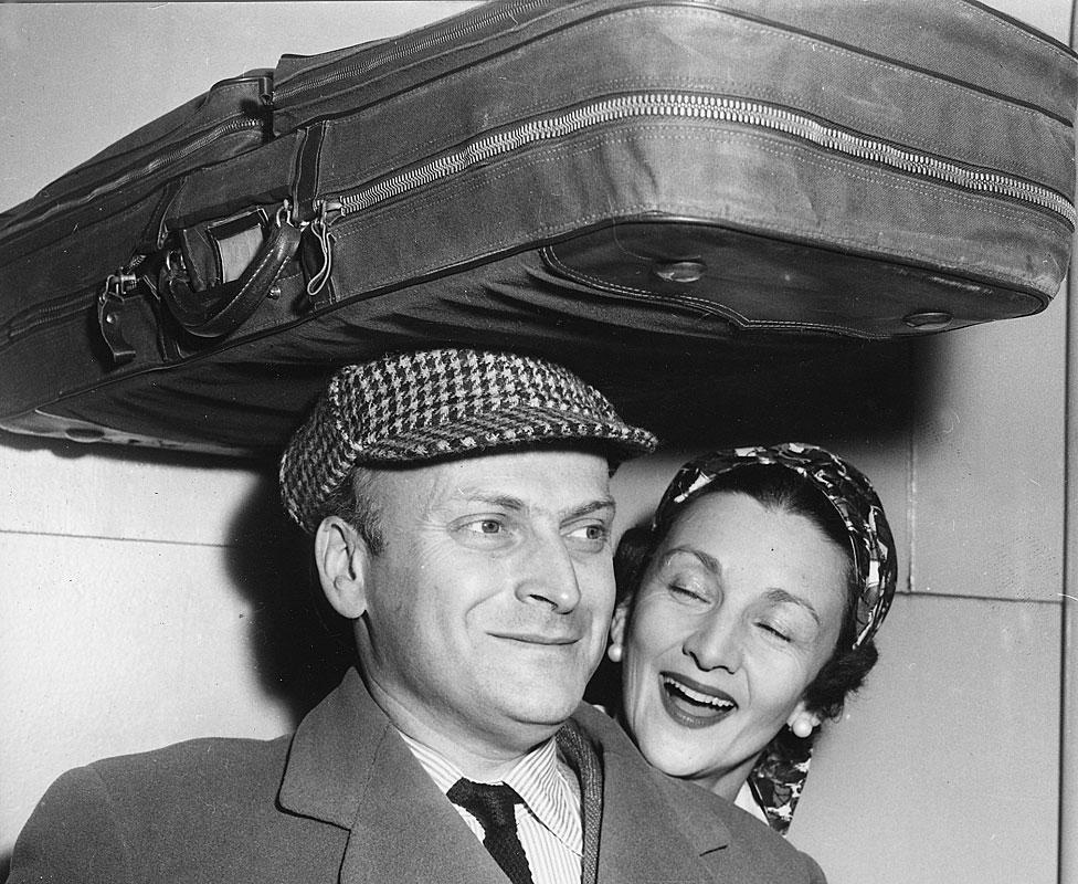 Diana Gould con Yehudi Menuhin