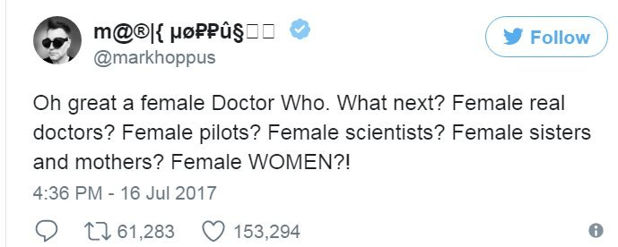 Screen grab of tweet by @markhoppus