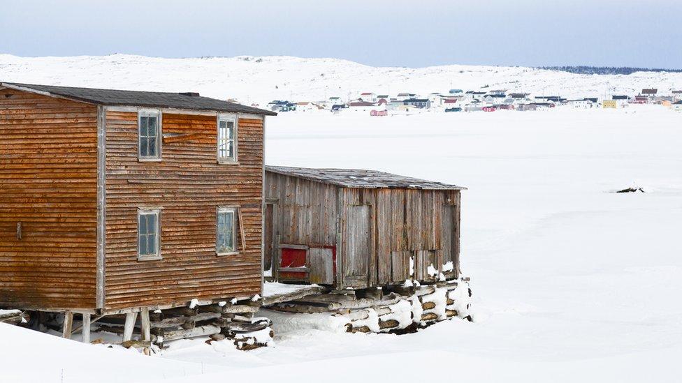 Casas sin cimientos en la isla de Fogo