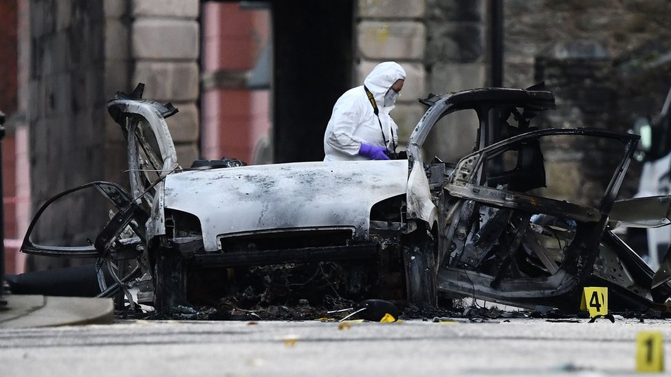 Londonderry bomb: Four arrests over 'reckless' attack