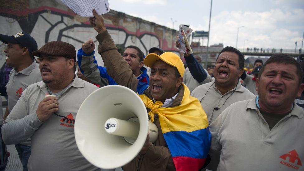 Sindicalistas en Colombia
