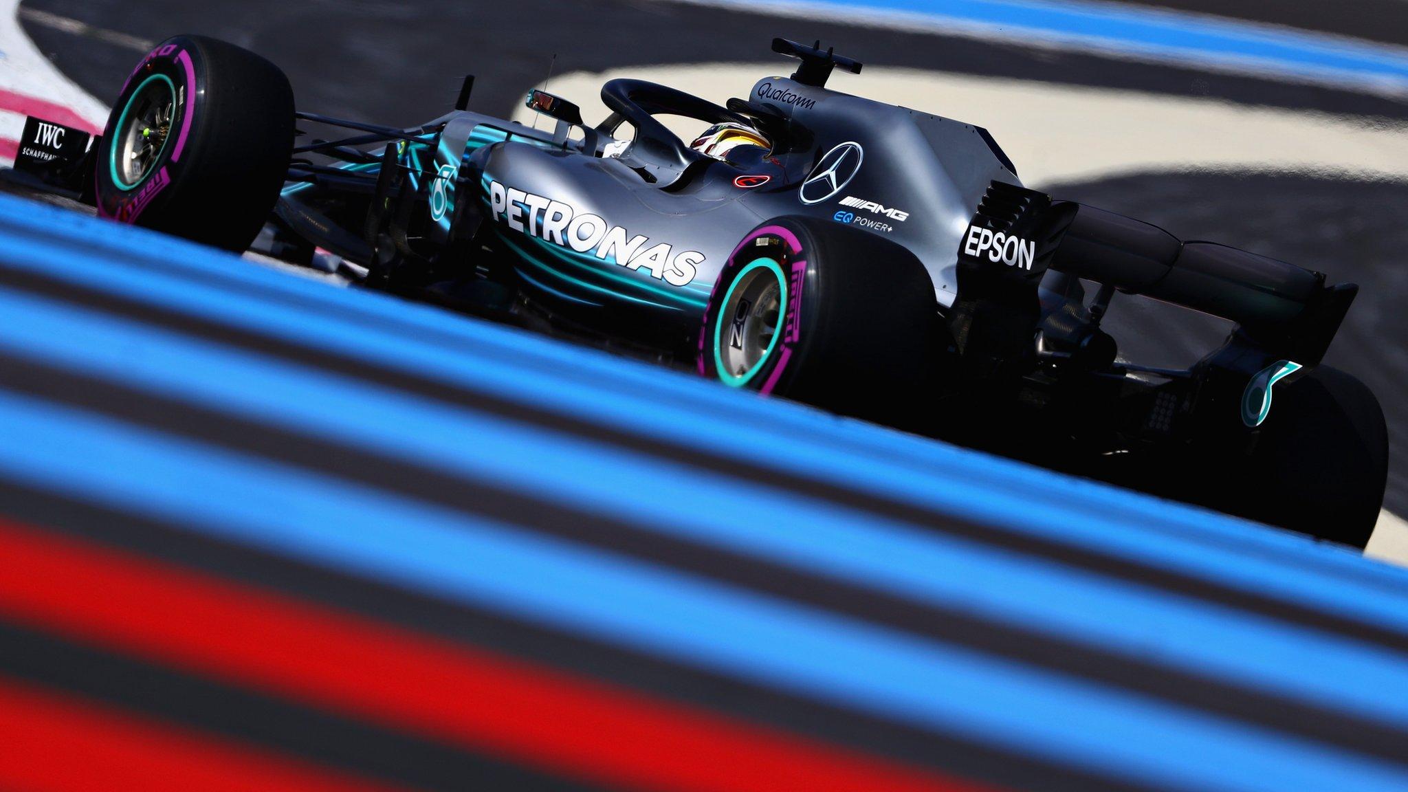 Hamilton fastest in France as Perez loses wheel