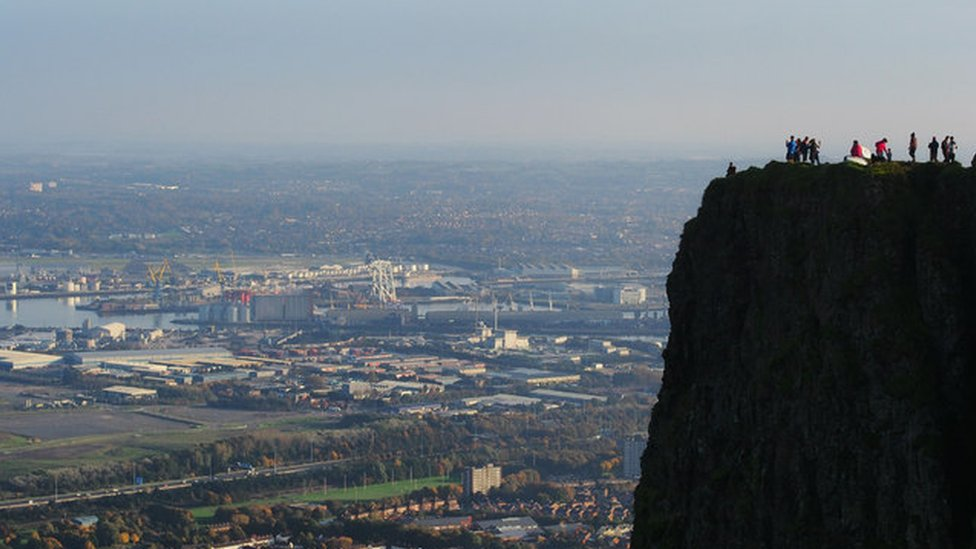 North Belfast viewed from Cave Hill