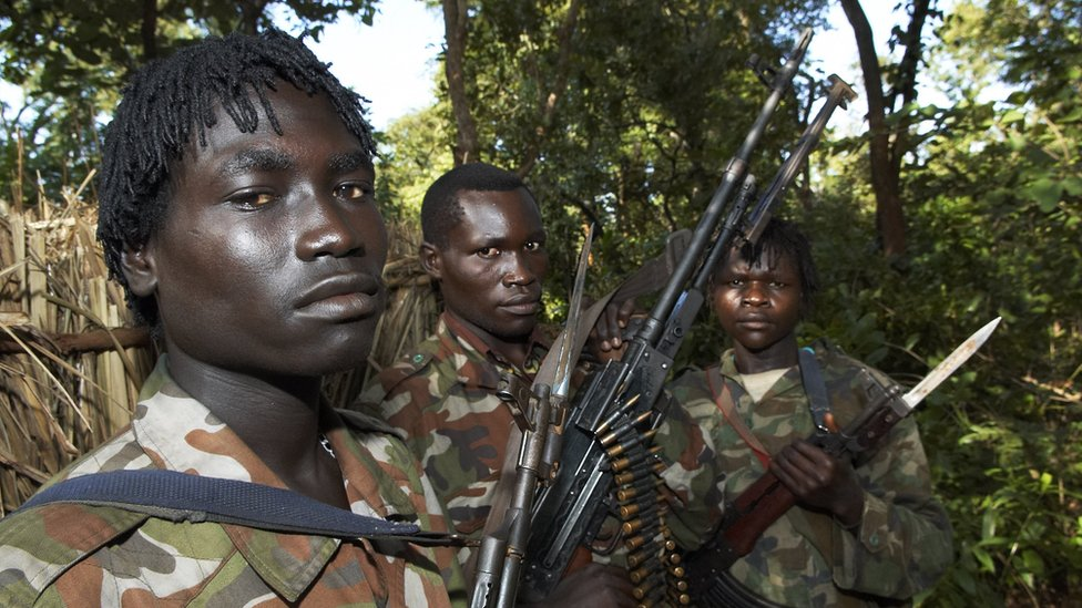 LRA soldiers pictured in DR Congo in 2006