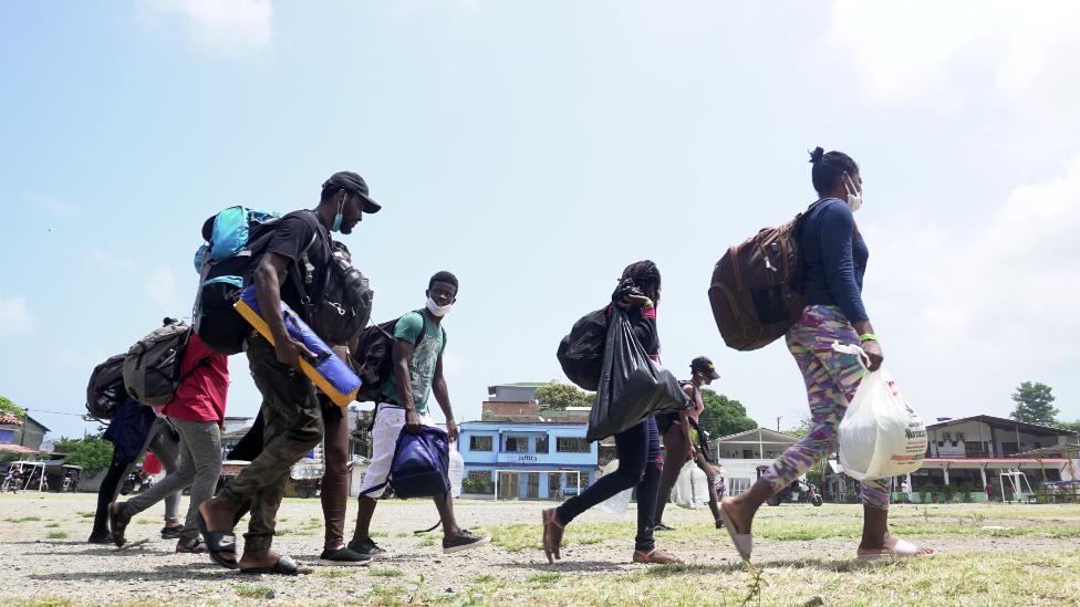 Migrantes en el Darien