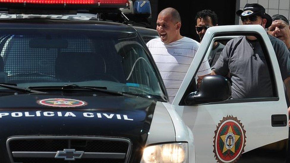 Luiz Henrique Ferreira - Spaghetti - pictured in police custody in August 2010