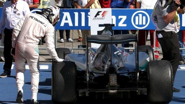 Lewis Hamilton after winning the Italian GP