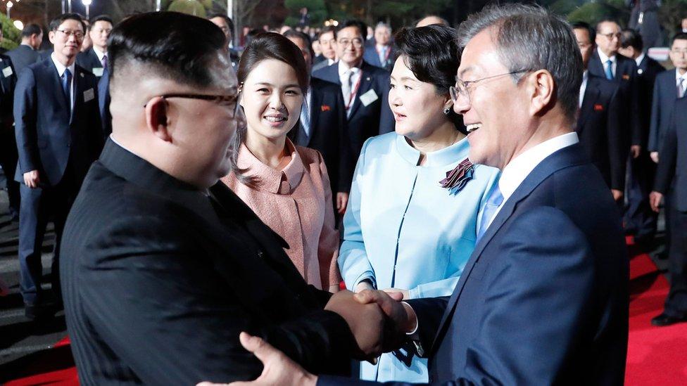 Kim Jong-un, Moon Jae-in, Korea Utara, Korea Selatan