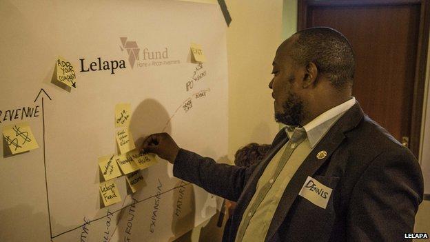 An entrepreneur at a Lelapa meetup in Nairobi