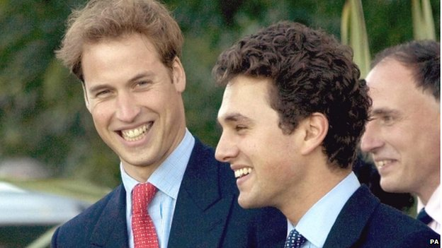 Prince William and Thomas van Straubenzee in 2005