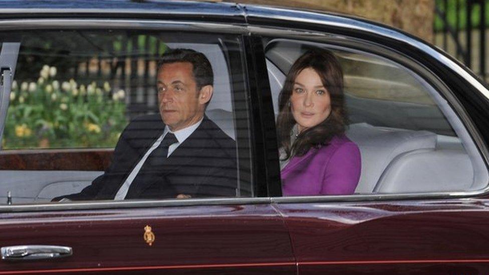ساركوزي وكارلا بروني في زيارة للندن