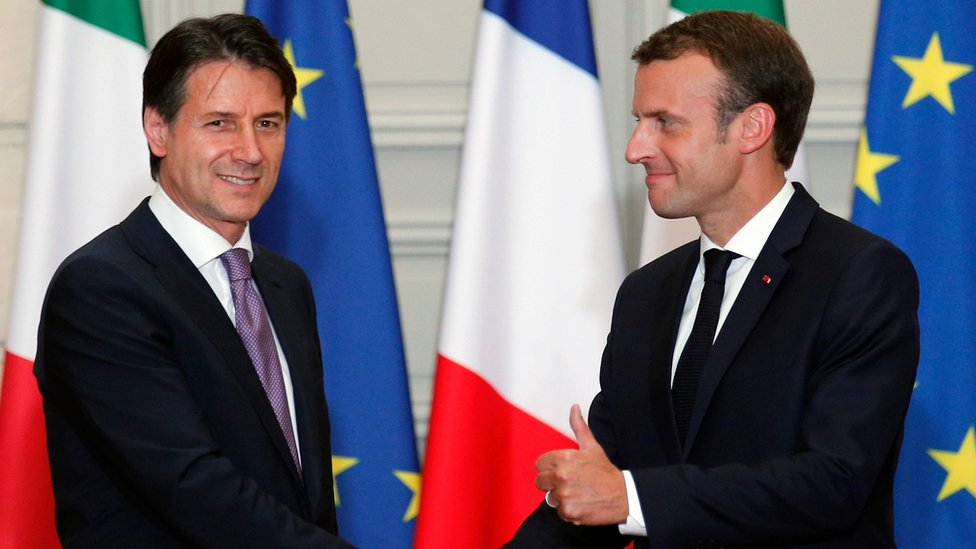 Macron And Italian Pm Conte Back Eu Asylum Centres In African Nations Bbc News
