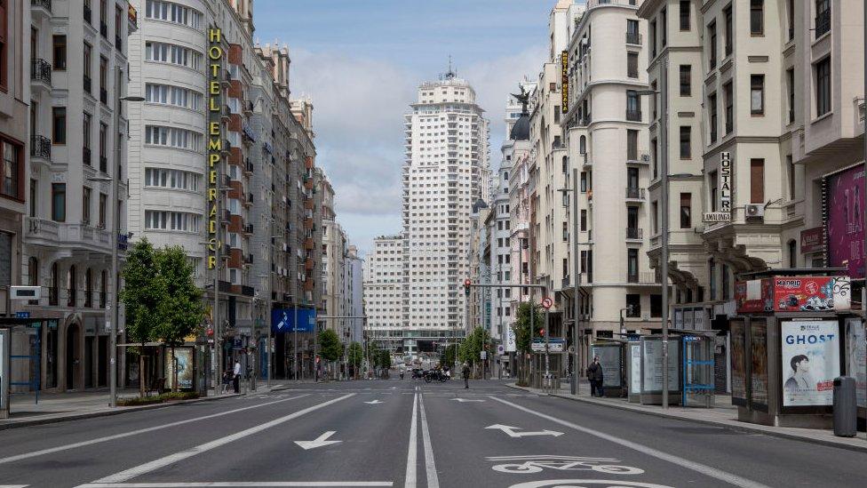 Madrid vacía por el coronavirus.