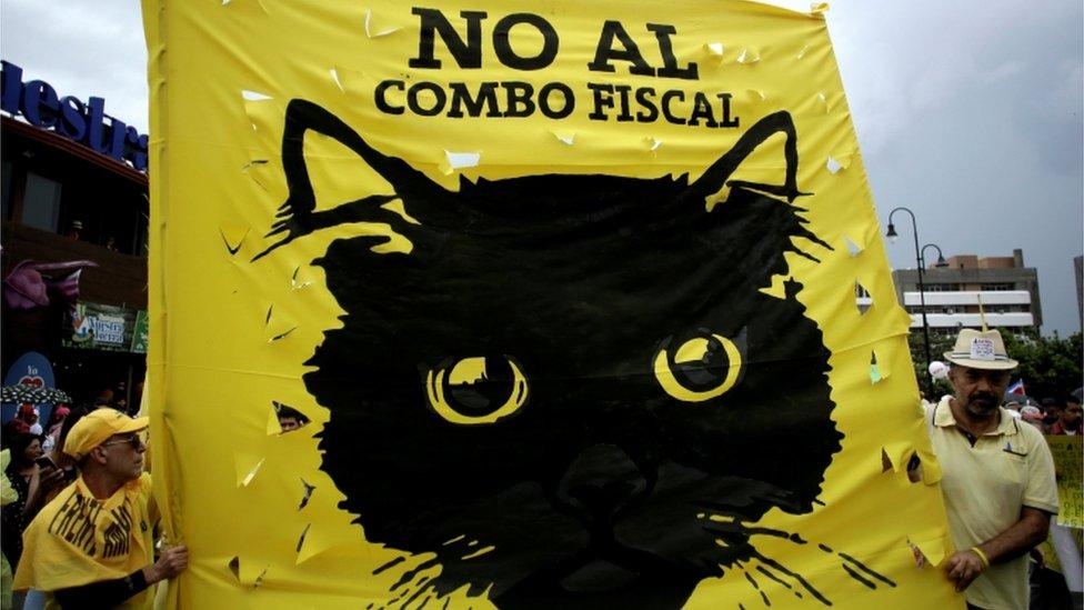 Protesta contra la reforma fiscal.