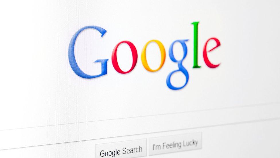 Logo de Google en su buscador.