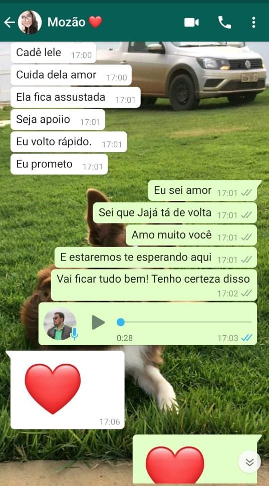 Mensagem de WhatsApp