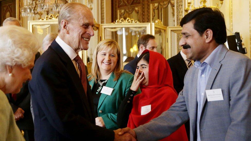 Malala Jusafzai, kraljica i vojvoda od Edinburga