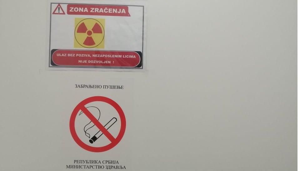 zona zračenja na institutu za onkologiju