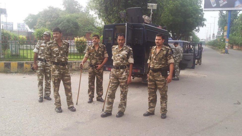 मुज़फ्फरनगर में तैनात केंद्रीय बल
